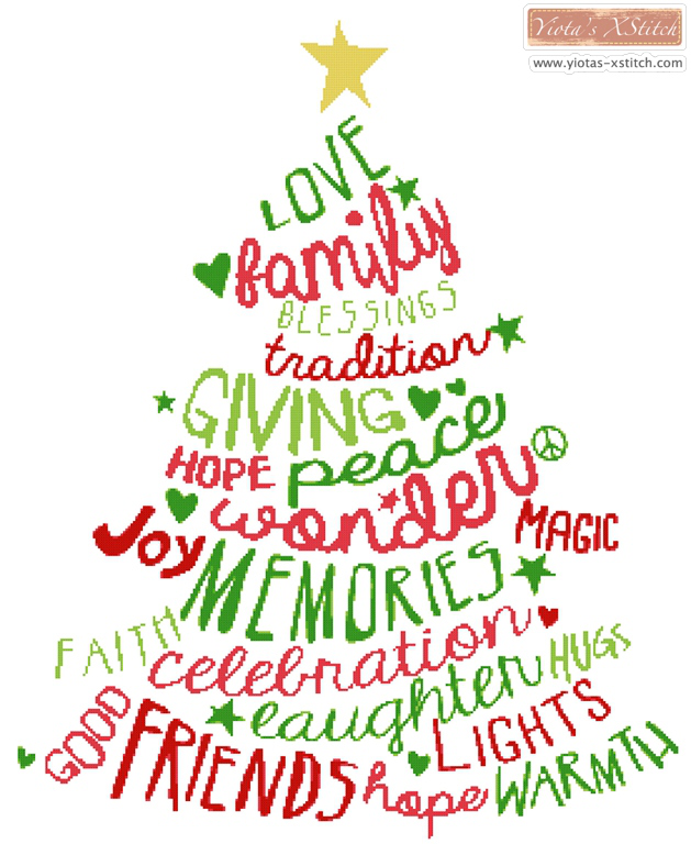 Word Christmas Tree 71